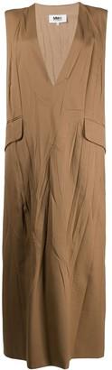 MM6 MAISON MARGIELA V-neck sleeveless shift dress
