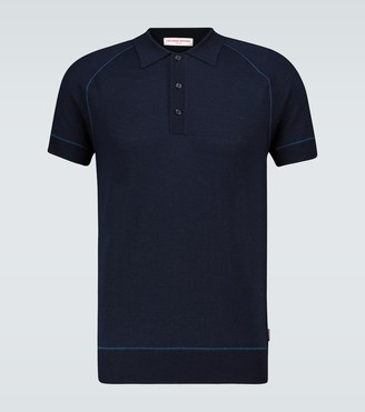 Orlebar Brown Milburn merino and silk polo shirt