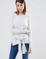 Whistles Long Sleeves Sweater with Tie Sleeve Front