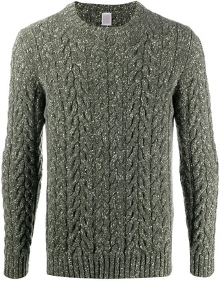 Eleventy Cable Knit Crew Neck Jumper
