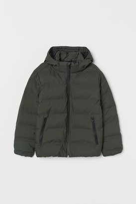 H&M Hooded Puffer Jacket - Green