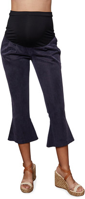 Emilia George Maternity Victoria Flared-Leg Crop Pants