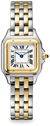 Cartier Panthere de Small Stainless Steel & 18K Yellow Gold Bracelet Watch