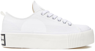 McQ Printed Leather Platform Sneakers