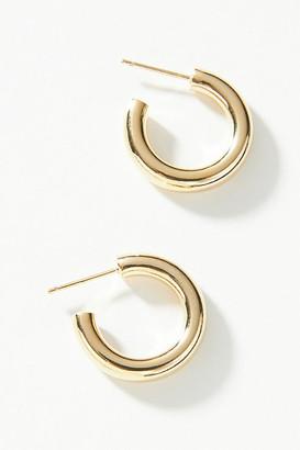 Anthropologie Pippa Huggie Hoop Earrings By in Gold