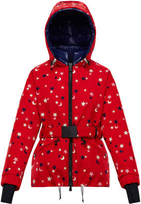 Moncler Genius 3 Genius Polka-Dot Belted Hooded Coat