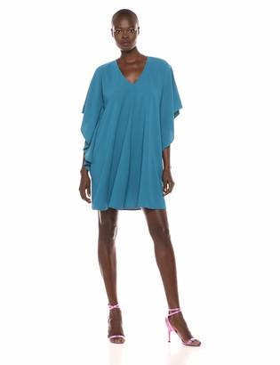 Sharagano Women's v Neck Cape Dress