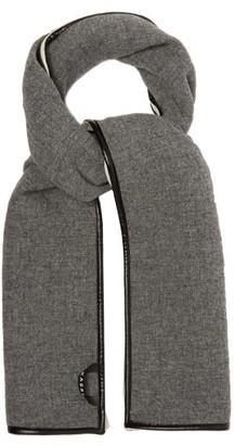 Kassl Editions Coated-trim Wool-blend Scarf - Grey