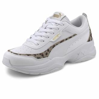 Puma Women's Cilia Mode Leo Sneaker White White Team Gold Black 7.5 UK