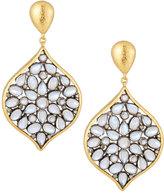Gurhan 24k Yellow Gold Moonstone & Diamond Drop Earrings