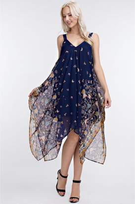 People Outfitter Handkerchief Chiffon Dress
