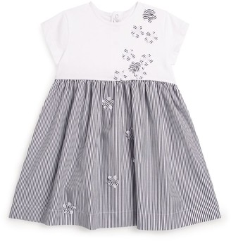 Il Gufo Floral Stripe Dress