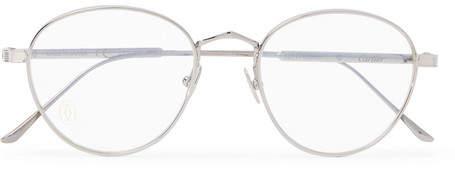 Cartier Eyewear Signature C De Round-Frame Silver-Tone And Ruthenium Optical Glasses
