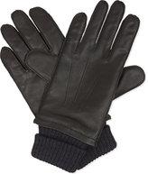 Hugo Boss Heyson Leather And Wool Gloves