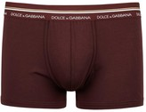 Dolce & Gabbana Bordeaux Stretch Cotton Boxer Briefs