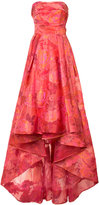 Marchesa floral jacquard gown