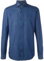 Z Zegna micro print chambray shirt
