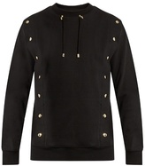 Balmain Crew-neck Drawstring-collar Cotton Sweatshirt
