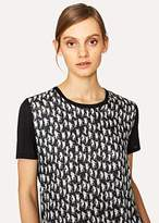 Paul Smith Women's Black 'Dancing Cats' Print T-Shirt