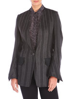 Ter Et Bantine Striped V-Neck Open Jacket