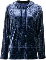 Plein Sud Jeans high shine hooded sweater
