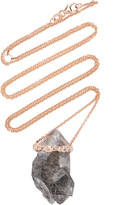 Jill Hoffmeister One-Of-A-Kind 14K Rose Gold, Diamond And Crystal Neck