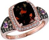 Le Vian Chocolatier Le Vian 14CT Strawberry Gold Diamond & Quartz Ring