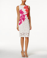Jax Embroidered Floral Lace Illusion Dress