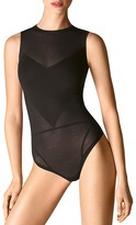 Wolford Opaque Transparent Bodysuit