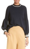 Tibi Women's Wool Puff Sleeve Pullover