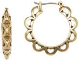 Lucky Brand Scalloped Sunburst Hoop Earrings