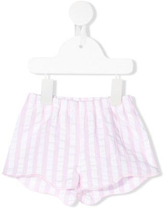 Il Gufo Striped Fitted Shorts