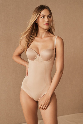 Spanx Oncore Open-Bust Bodysuit By in White Size S