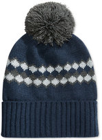 Club Room Men's Striped Pom Pom Beanie, Only at Macy's