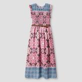 Art Class Girls' Smocked Maxi Dress Art Class - Coral
