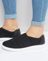Asos Sneakers in Black With Elastic