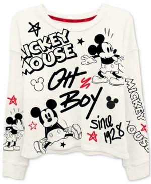Freeze 24-7 Trendy Plus Size Mickey Mouse-Print T-Shirt