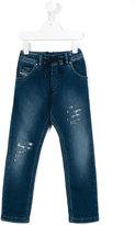 Diesel drawstring waist jeans - kids - Cotton/Spandex/Elastane - 6 yrs