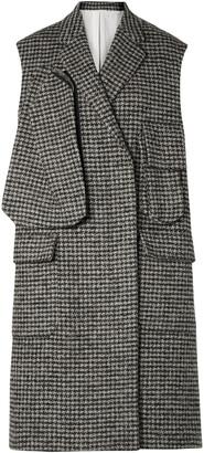 Calvin Klein Oversized Houndstooth Wool-blend Vest