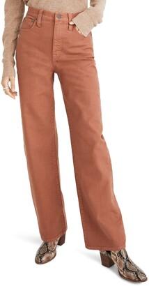 Madewell Slim Wide Leg Full Length Pants: Garment Dyed Edition