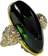 Alexis Bittar Gold-Plated Bel Air Druzy Torpedo Ring