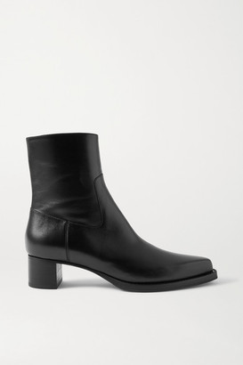 Dries Van Noten Leather Ankle Boots - Black