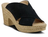 Spring Step Leather Slip-On Sandals - Maenia