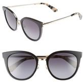 Kate Spade Women's Jazzlyn 51Mm Cat Eye Sunglasses - Black/ Gold