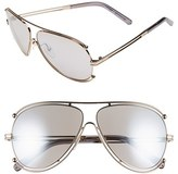 Chloé Women's 'Isidora' 61Mm Aviator Sunglasses - Gold/ Grey