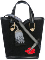 Olympia Le-Tan Mini Beatrix tote bag - women - Cotton - One Size