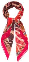 Hermes Pelages et Camouflage Silk Mousseline Shawl