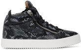 Giuseppe Zanotti Grey Python May Kriss High Top Sneakers