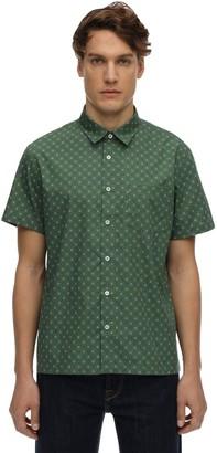 A.P.C. Printed Cotton & Silk Short Sleeve Shirt
