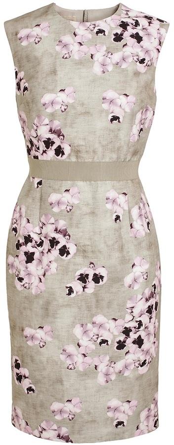 Giambattista Valli Floral Printed Cotton-Blend Dress